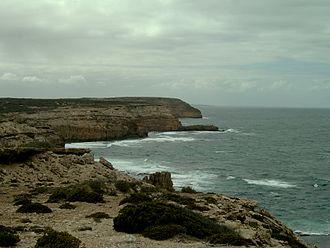 Waterloo Bay massacre - The cliffs of Waterloo Bay