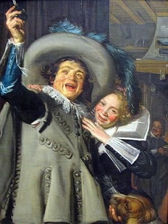 Two Singing Boys with a Lute and a Music Book - Image: 1623 Hals Junger Mann und Frau in einem Gasthaus anagoria