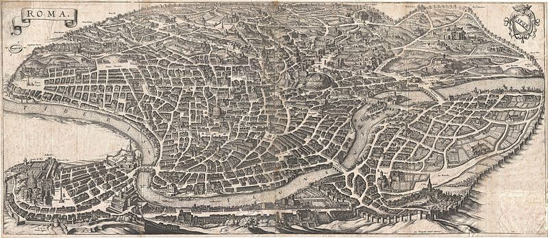 File:1652 Merian Panoramic View or Map of Rome, Italy - Geographicus - Roma-merian-1642.jpg