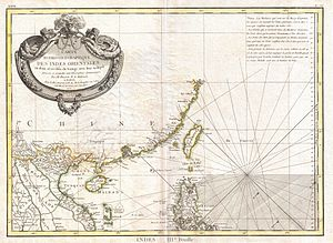 Paracel Islands - 18th century European map showing the Paracel Islands as part of Cochinchina (Vietnam)