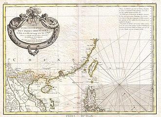 Paracel Islands - 18th century European map showing the Paracel Islands as part of Cochinchina (Vietnam)