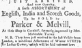 1773 Parker Melvill BostonGazette Dec20.png