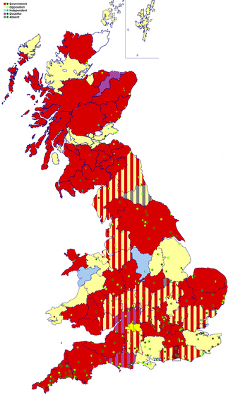 British general election, 1784 - Image: 1784 General Election map