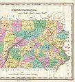 1827 Finley Map of Eastern Pennsylvania, en-antd Lehigh-Susquehanna & Susquehanna-Tioga Turnpike.jpg