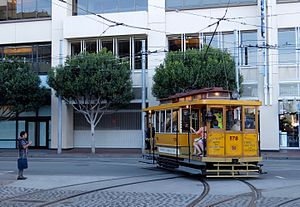 Market Street Railway (transit operator) - Car 578 in operation during the 2015 Muni Heritage Weekend