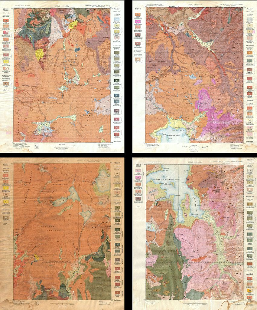 File US Geological Survey Geological Map Of Yellowstone - 1896 map of us