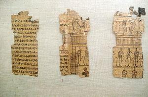Egyptian Museum (Milan) - Image: 1901 Milano Museo egizio Libro dei morti (età tolemaica) Foto Giovanni Dall'Orto 14 Feb 2008