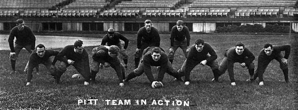 The 1910 team went undefeated and unscored upon, and is considered by many to be the 1910 national champion 1910Pittteamaction.jpg