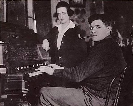 Ruth and his first wife, Helen Woodford, 1915 1915 Babe Ruth and Helen Woodford (cropped).jpg