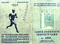 1952 Summer Olympics, identity card.jpg
