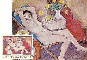 Theodor Pallady - Nude on a 1969 Romanian postcard
