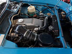 Opel Cam-in-head engine - A 19S engine fitted to a 1970 Opel GT