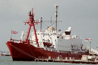 HMS Endurance (1967) - HMS Endurance (A-171) in Portsmouth harbour in 1988