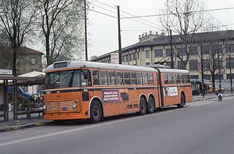 Viberti - Articulated trolleybus Fiat 2472 with Viberti body in Milano
