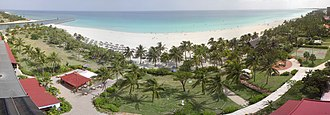 Tourism in Cuba - The beach in the resort town of Varadero