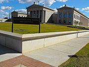Una vista del Palacio de Justicia Federal de Tuscaloosa como se ve University Blvd