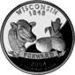 Wisconsin quarter dollar coin