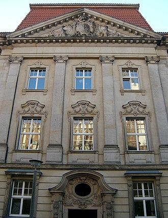 Regierungsbezirk Frankfurt - Frankfurt former regional Government House, now Viadrina University, main building.
