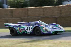 """1970 24 Hours of Le Mans - The Martini Racing blue and green """"psychedelic"""" livery on a 1970 917K, as raced at Watkins Glen in 1970."""