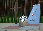 2008 Mirosławiec air crash monument (2).jpg