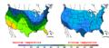 2012-11-25 Color Max-min Temperature Map NOAA.png