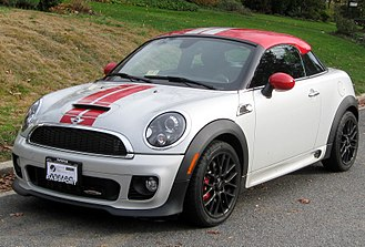Mini Coupé and Roadster - Image: 2012 Mini John Cooper Works Coupe 11 26 2011 front