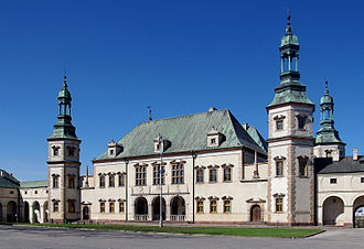 Palace of the Kraków Bishops in Kielce - Main façade as seen from the Collegiate Church.