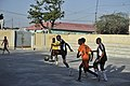 2015 03 04 AMISOM Police football players play with Dharkenley Team-6 (16690398076).jpg