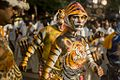 2016 Pulikali Tiger mask dance procession, a woman artist at the Hindu Onam festival Kerala.jpg