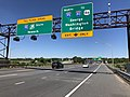 2018-07-08 11 02 48 View west along New Jersey State Route 495 (Lincoln Tunnel Approach) at the exit for Interstate 95 NORTH (To Interstate 80-U.S. Route 46, George Washington Bridge) in North Bergen Township, Hudson County, New Jersey.jpg