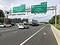 2019-05-29 16 43 12 View north along the inner loop of the Capital Beltway (Interstate 495) at Exit 44 (Virginia State Route 193-Georgetown Pike, Langley, Great Falls) in McLean, Fairfax County, Virginia.jpg