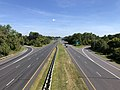 2019-09-03 10 44 05 View north along U.S. Route 29 (Columbia Pike) from the overpass for Maryland State Route 32 (Patuxent Freeway) in Columbia, Howard County, Maryland.jpg