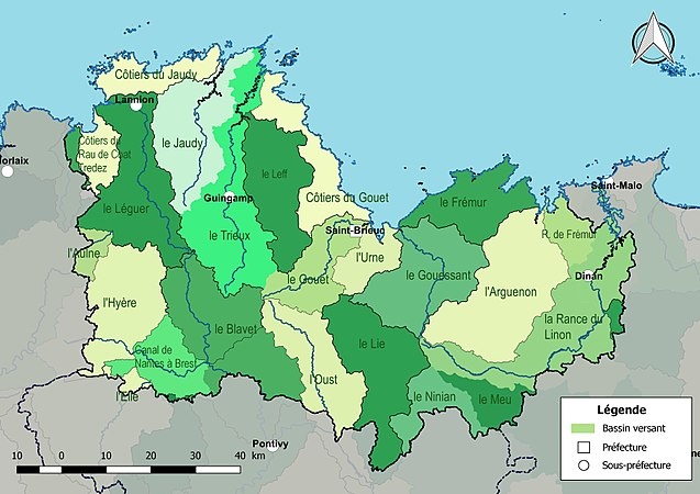 2f447b87e1ce Réseau hydrographique des Côtes-d Armor — Wikipédia