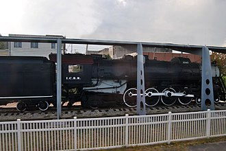 McComb, Mississippi - A steam locomotive on display in McComb