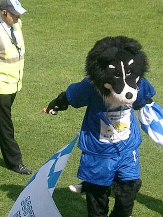 Queen of the South F.C. - Dougie the Doonhamer at Palmerston for the celebration of the 2007–08 QoS run to the Scottish Cup Final.