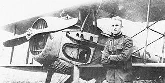 1st Operations Group -  27th Aero Squadron - 2LT Frank Luke Jr with SPAD XIII