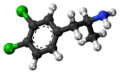 3,4-Dichloroamphetamine molecule ball.png
