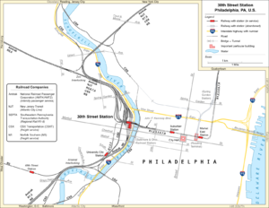 Map Of Philadelphia 30Th Street Station 30th Street Station   Wikipedia