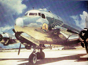 320th Troop Carrier Squadron - C-54 Skymaster of the 320th Troop Carrier Squadron, likely taken at North Field, Tinian in 1945
