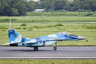 Bangladesh Air Force - Bangladesh Air Force MIG-29 running for take off
