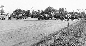 Cardonville Airfield - P-47 Thunderbolts of the 368th Fighter Group, Cardonville Airfield (A-3) France, Summer 1944.