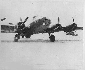 36th Electronic Warfare Squadron - 30th Bombardment Squadron B-17E at Amchatka Army Airfield, Alaska