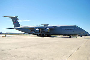 The C-5 Galaxy is the largest aircraft in the ...