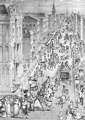Fifth Avenue, 1878: illustration from The Wick...