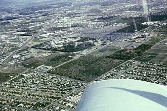Anaheim, California - Aerial view of Anaheim and Disneyland in 1965