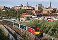 67010 on the Roodee viaduct, Chester 190819.jpg