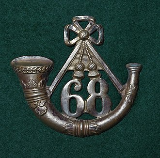 68th (Durham) Regiment of Foot (Light Infantry) - Glengarry cap badge of the 68th (Durham) Regiment of Foot