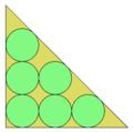 6 cirkloj en 45 45 90 triangulo.png
