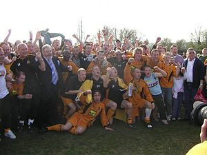 Southern Counties East Football League - Maidstone United celebrate winning the title in 2006