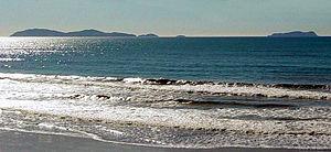 Coronado Islands - The Coronado Islands, viewed from Tijuana beach